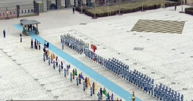 Türkmen lider için karşılama