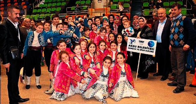 Halk danslarında Aksu Belediyespor üstünlüğü
