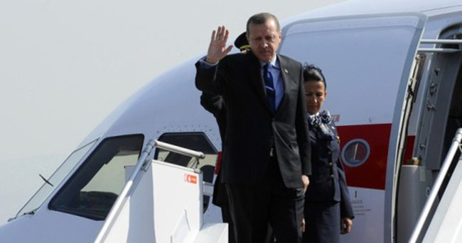 Erdoğan'ın uçağı havada kaldı