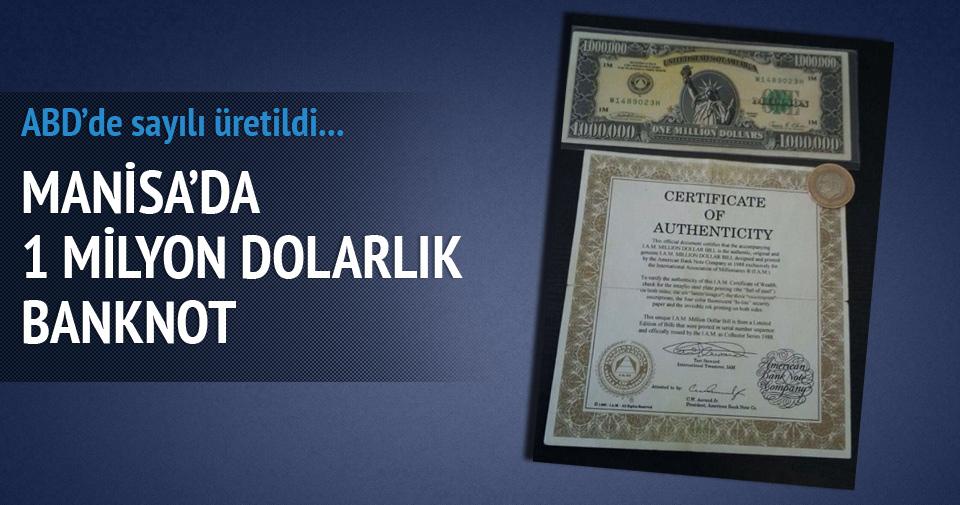 Manisa'da 1 milyon dolarlık banknot