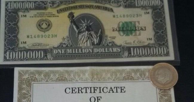 1 milyon dolarlık banknot bulundu!