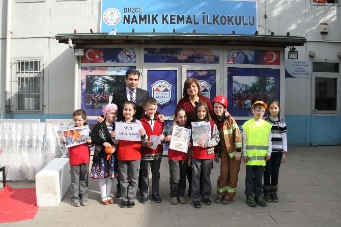 Namık Kemal İlkokulun'da Sivil Savunma Etkinliği