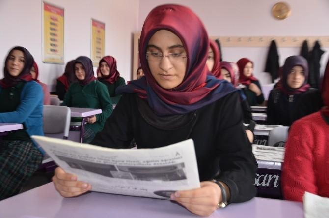Karaman'da Kız İmam Hatip Lisesi Osmanlıca Gazete Çıkardı