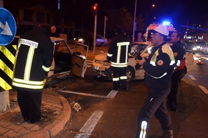Kayseri'de Trafik Kazası: 5 Yaralı