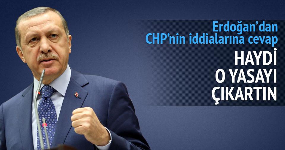 Erdoğan'dan CHP'nin kapatılacağı iddialarına sert yanıt