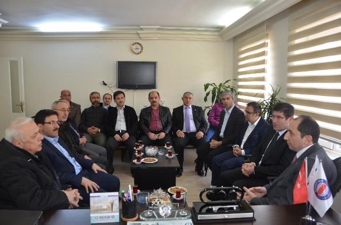 Rektör Alkan'dan AK Parti Ve Sendikalara Ziyaret