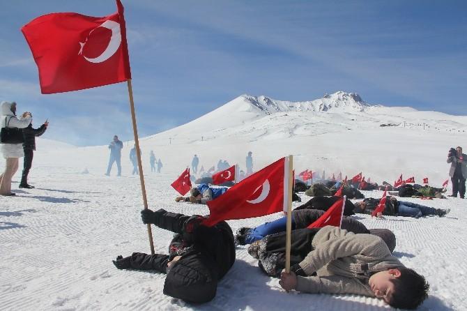 """Erciyes'te """"120"""" Filmi Canlandırıldı"""