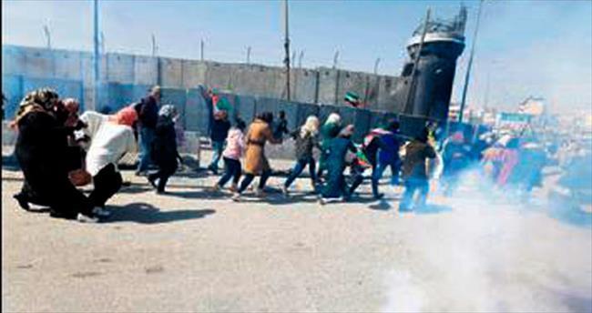 Filistinli kadınların hediyesi gaz bombası