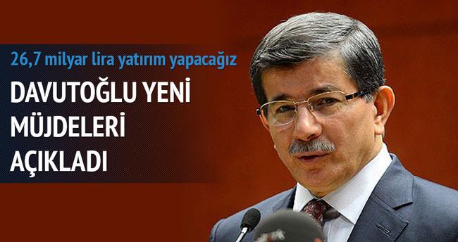Başbakan Davutoğlu yeni müjdeleri açıkladı!