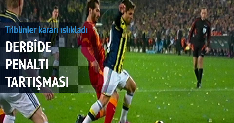 Derbide Fenerbahçelilerin penaltı beklediği an
