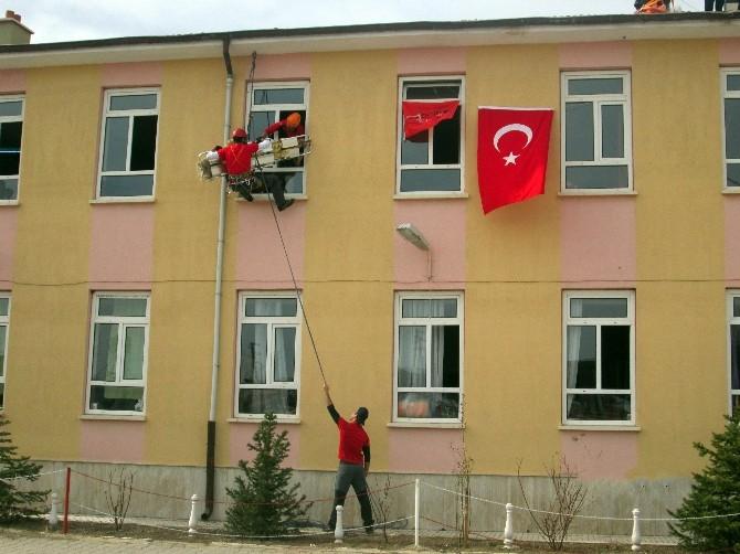 Tuzlukçu'da Deprem Tatbikatı Yapıldı