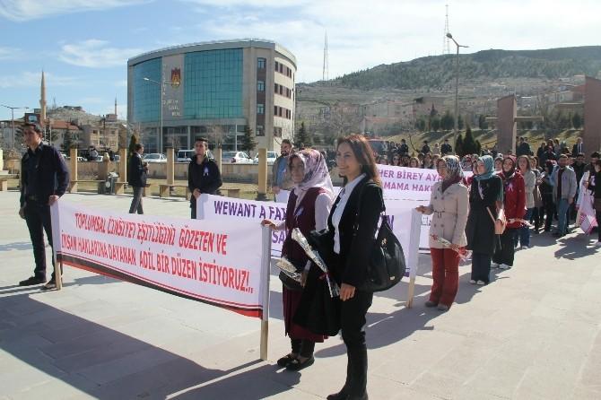 Nevşehir'de 8 Mart Dünya Kadınlar Günü Kutlandı