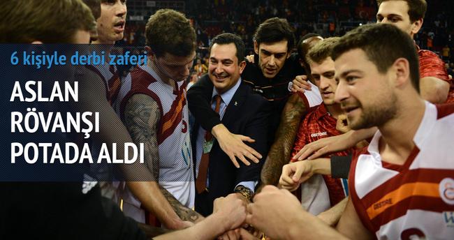 Galatasaray'dan 6 kişiyle derbi zaferi