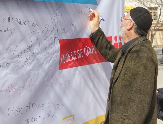 Çankırı'da 'Fikir Duvarı' Etkinliği