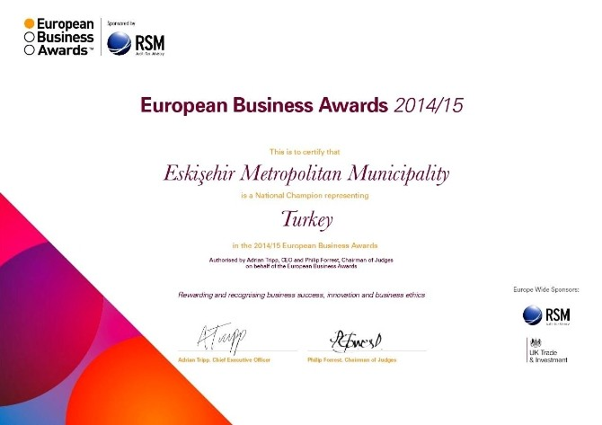 Büyükşehir, 'European Business Awards' Oylamasında Türkiye Birincisi Oldu
