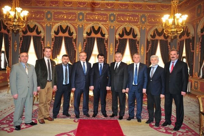 DTSO Yönetimi İstanbul Valisi Vasip Şahin'i Ziyaret Etti
