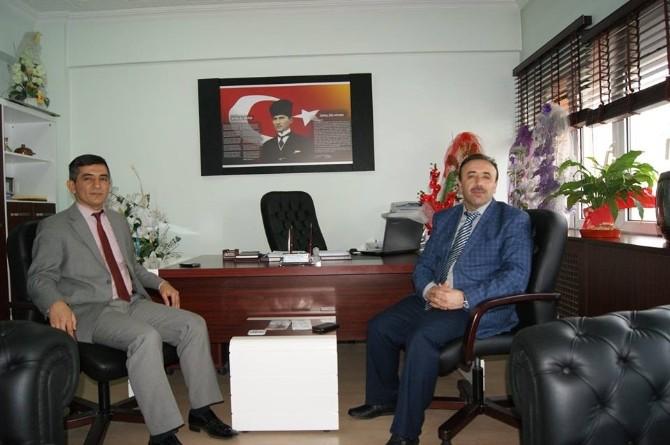 Çaycuma Müftüsü Arcaklıoğlu'ndan İlçe Milli Eğitim Müdürü Özdemir'e Ziyaret