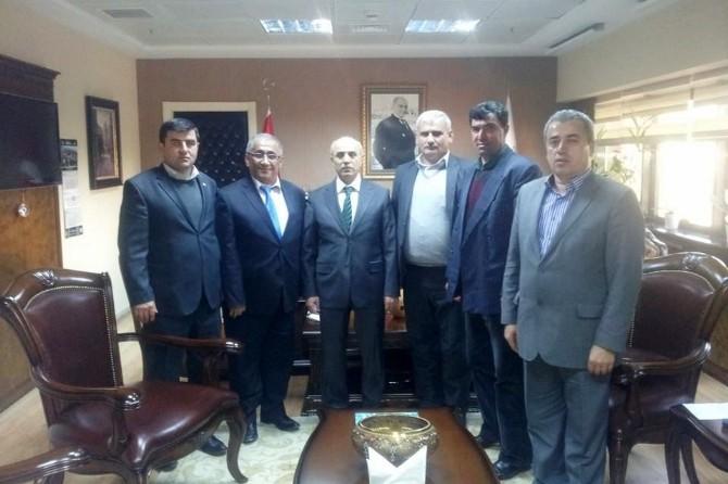 Osmancık'lı Muhtarlar Müsteşar Akça'yı Ziyaret Etti