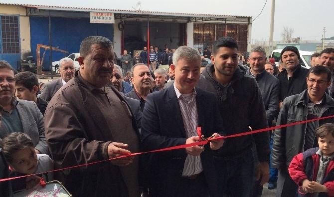 Başkan Yaralı Marangoz Atölyesi Açılışına Katıldı