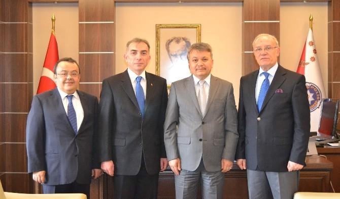 Türk Polis Teşkilatı Güçlendirme Vakfı'ndan Emniyet Müdürü Şahin'e Ziyaret