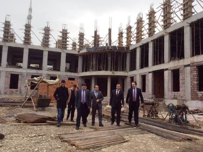 Milletvekili Tunç,imam Hatip Okulu İnşaatını İnceledi