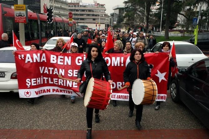 Vatan Partililer Çanakkale'ye Yürüyerek Gidiyor