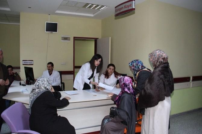 Oltu Toplum Sağlığı Merkezi Ücretsiz Mamografi Çekimine Başlandı