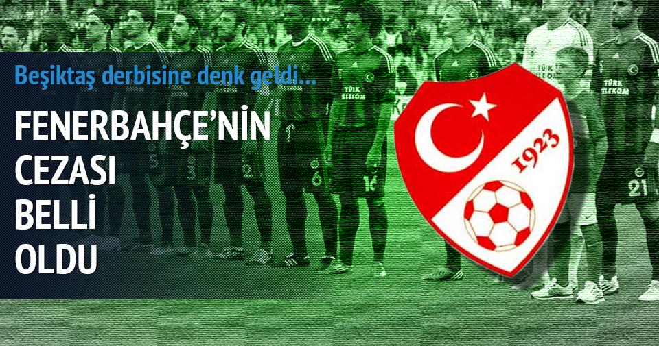 Fenerbahçe'ye derbide tribün kapatma cezası