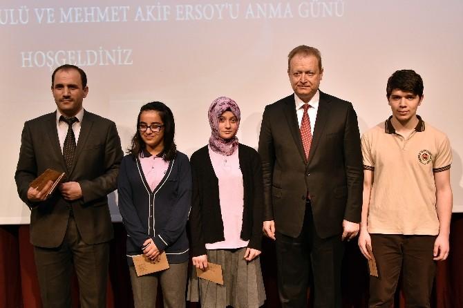 Milli Şair Mehmet Akif Ersoy Gümüşhane'de Anıldı