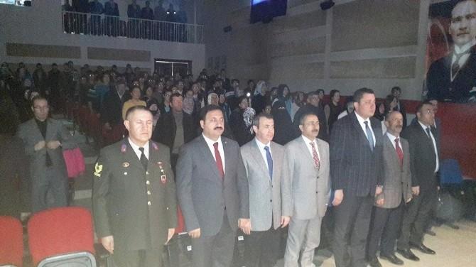 Aşkale'de 12 Mart İstiklal Marşı'nın Kabulü Etkinliği