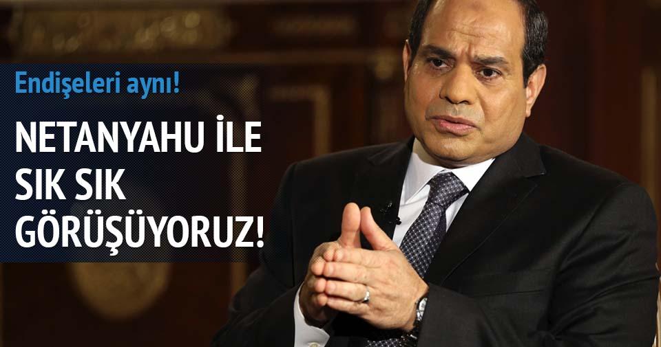 Sisi: Netanyahu ile sık sık görüşüyoruz