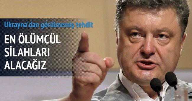 Ukrayna Devlet Başkanı Poroşenko'dan görülmemiş tehdit