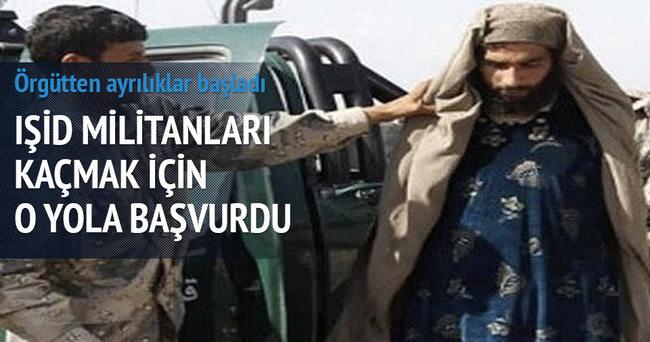 IŞİD militanları kaçmak için kadın oldu!