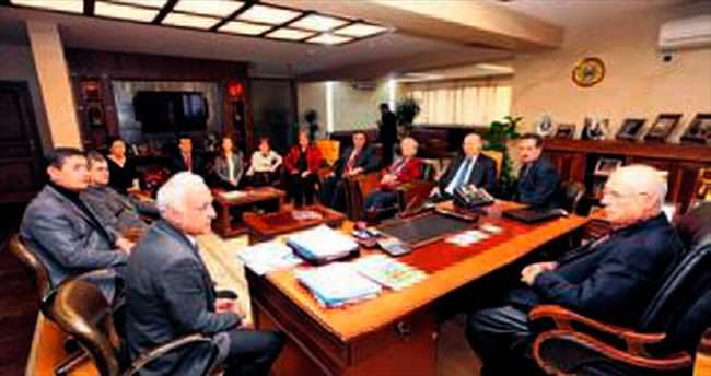 Kent Konseyi'nden Başkan Yaşar'a ziyaret