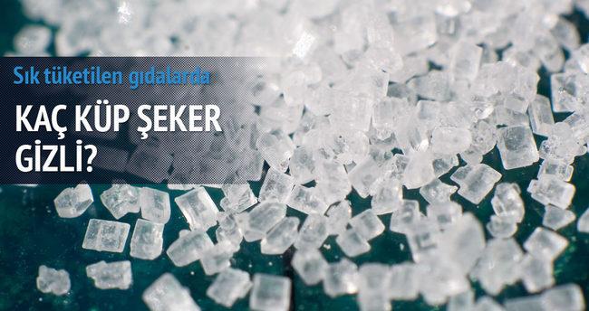 Sık tüketilen gıdalarda kaç küp şeker gizli?