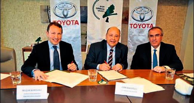 Toyota Borovalı her araç için 4 fidan dikecek
