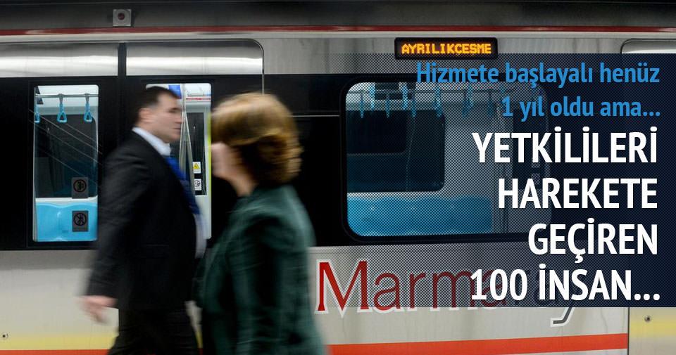 Marmaray'da 100 insanın ömrüne eşdeğer zaman tasarrufu