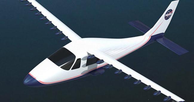 NASA'dan 18 pervaneli elektrikli uçak