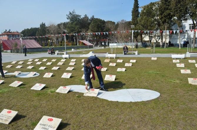 Kula'da Temsili Çanakkale Şehitleri Anıtı Yapıldı