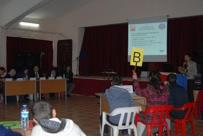 İdil'de Ortaokullar Arası Bilgi Yarışmaları Başladı