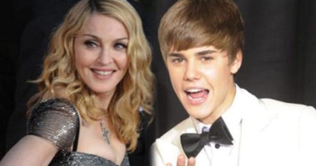 Madonna'nın yeni gözdesi Justin Bieber