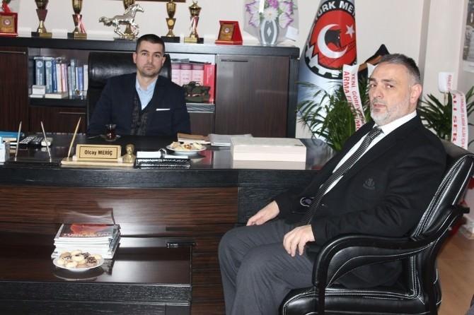 AK Parti Sakarya Milletvekili Aday Adayı Recep Hacıeyüpoğlu Türk Metal Sendikasını Ziyaret Etti