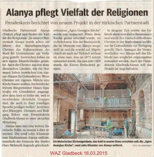 Hıdırellez Kilisesi'nin Restorasyonu Kardeş Şehirde Sevinçle Karşılandı