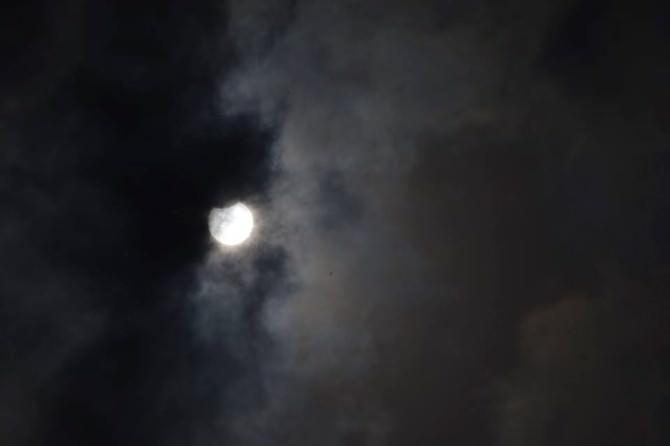 Güneş Tutulması Edremit'te Böyle Görüntülendi