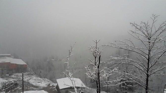 Espiye'de Mart Ayında Köyler Beyaza Büründü