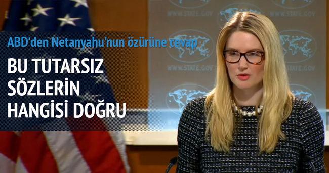 ABD'den Netanyahu'nun özürüne cevap