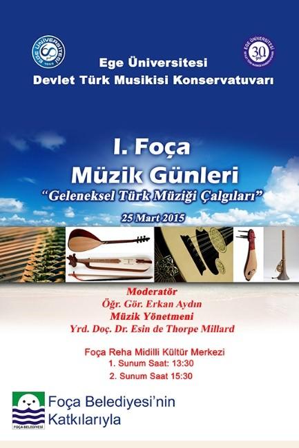 Foçalı Gençler Ve Çocuklar, Geleneksel Türk Müziği Çalgılarını Tanıyacak