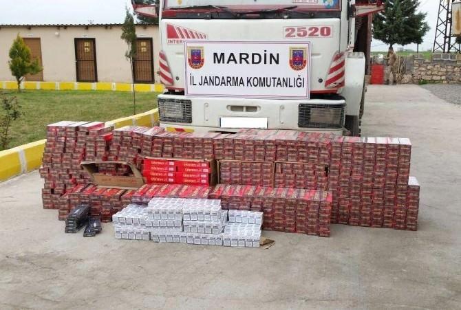 Mardin'de 11 Bin 850 Paket Kaçak Sigara Ele Geçirildi