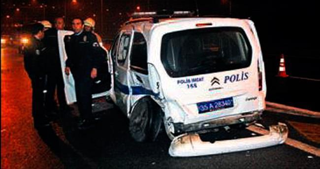 Alkollü sürücü polisleri yaraladı