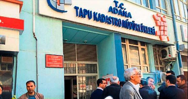 Adana Tapu Kadastro Müdürlüğü'nde hırsız şoku